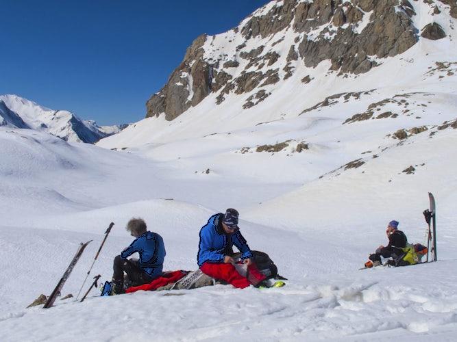 Snowboard off pist